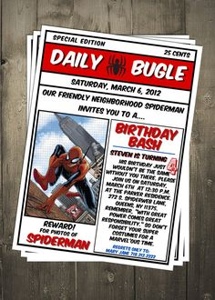 Spiderman party ideas for @Marsha Penner Penner Penner Lynch