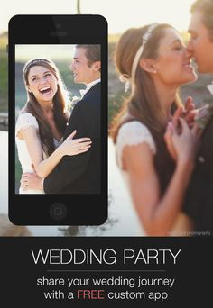 Wedding Party is the FREE app for your engagement, wedding day, and all the celebrations in between! Share photos, notes, important info, and more with all your loved ones. Wish I had this for my wedding!!!
