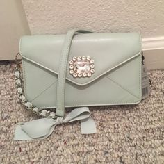 """Mint genuine leather, """"My Flat in London"""" purse Brighton/My Flat in London cool mint very soft genuine leather purse. Antoinette pouch, vintage inspired look, brand new with tags. Comes with dust bag Brighton Bags"""