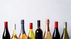 Tops From Different Kinds New Bottles Of Champagne, White, Red Wine On Light Background Dry White Wine, Red Wine, White Wine Substitute, Italian Custard, Chinese Cooking Wine, Cocoa Cake, Chenin Blanc, Poached Apples, Champagne Bottles