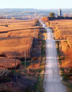 Rural landscape of Northeast Iowa