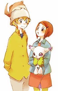 T.K and Kari - Digimon Adventure