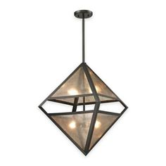 Elk Lighting Mica 4-Light Pendant In Oil-Rubbed Bronze With Grey Glass Shade Oil Rubbed Bronze