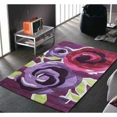teppich blumenmuster lila grün wohnzimmer dielenboden | teppich ... - Wohnzimmer Lila Grun