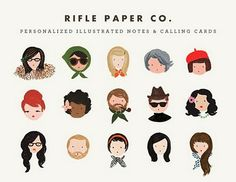 rifle paper company personalized illustrated notes and calling cards