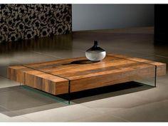 mesa centro madeira demolição: