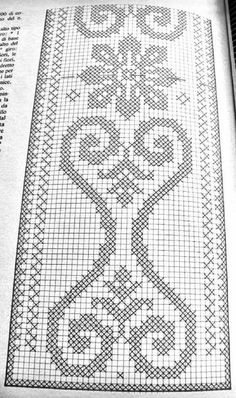 Cross Stitch Borders, Cross Stitch Flowers, Cross Stitch Designs, Cross Stitching, Weaving Patterns, Stitch Patterns, Crochet Patterns, Crochet Numbers, Crochet Carpet