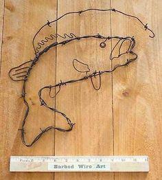 Bass ~ Western Southwestern Lure Fishing Boat Wall Decor Folk Art Farm Country
