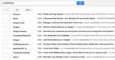 "Unsubscribe manually by simply searching for the word ""unsubscribe"" in your inbox. 