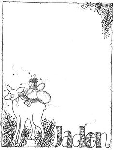 deer and fairy notepad
