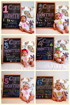 Cara's Monthly Chalkboard Month 1-6