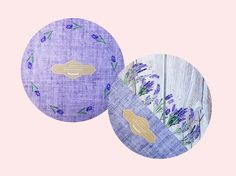 Set of 2 Round Mousepad Vintage Mouse pad Purple by BlissNhome