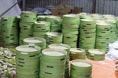 Spun bamboo serving tray