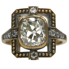 1stdibs - Old Cushion Cut Diamond Ring Masterpiece explore items from 1,700  global dealers at 1stdibs.com