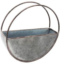Foreside Home & #Garden Outdoor #Planters Foreside Silver/Gray Round up your plants for the Large Round Galvanized Metal #FlowerPot. The circular planter is ready for real or faux #décor inside or outside and finished off with a rust color along the brims. #afflink Buy in pairs to flank your doorway!  #farmhouse #cottage