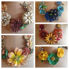 Upcycled vintage jewelry