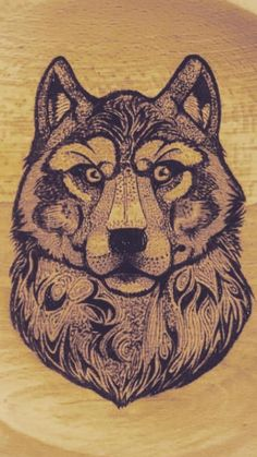 My finished wood burning project for my brother!