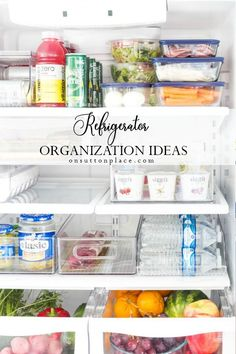 Easy refrigerator organization ideas that work for anyone! Suggestions for drawers, shelves, door, and container ideas. Refrigerator organization made easy! #maytag #refrigerator #organization