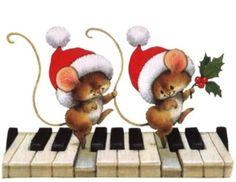 tubes souris - Page 7 Christmas Labels, Christmas Clipart, Vintage Christmas Cards, Christmas Printables, Christmas Wishes, Xmas Cards, Christmas Drawing, Christmas Paintings, Christmas Art