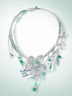 PURPLE by Anki: Flower diamond necklace