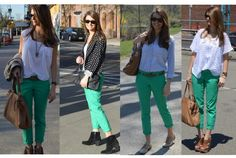 4 looks for colored pants