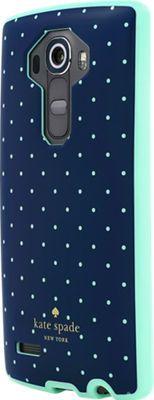 kate spade new york Flexible Hardshell Case for LG G4 Navy/Mint Dot- Verizon Wireless