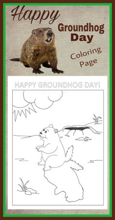 Groundhog Day Coloring Page!