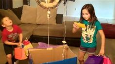 "Put balloons in box and have note in box then attach note to balloons ...""Surprise we are going to DISNEY!!"""