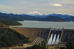 The Three Shastas: Shasta Dam, Lake Shasta and Mt. Shasta in the background. This spot is just a couple miles from where I live. Believe it or not, I learned to drive on the curvy little road this photo was taken from.