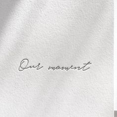 """This is """"Our Moment"""" - Letterpress hand lettering. Wedding words by Inku Press. Letterpress Wedding Invitations, Wedding Stationary, Wedding Caligraphy, Wedding Typography, Wedding Letters, Wedding Themes, Wedding Cards, Wedding Venues, Wedding Card Quotes"""