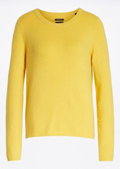 Knitted sweater bright mustard