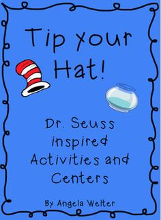 This product contains many fun activities and centers that focus on Dr. Seuss books.  The centers come with recording sheets and manipulatives.  Activities:      -Wacky Writing - Find wacky things in the picture and write and illustrate your own wacky day.     -Count by 5's or 10's with the Cat     -Venn Diagram comparing The Cat in the Hat and The Cat in the Hat Comes Back     -Word Family Craftivity to go with One Fish, Two Fish     -Class book page to go with There's a Wocket in my…