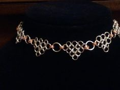 Chainmaille choker, no beads :)