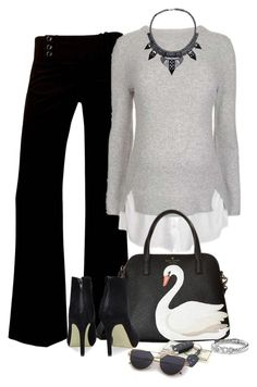 """""""Untitled #7041"""" by lisa-holt ❤ liked on Polyvore featuring A. Byer, Topshop, Kate Spade and David Yurman"""
