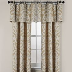 Pennington Round Grommet Window Curtain Valance - BedBathandBeyond.com
