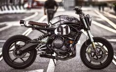 CM-02 Versys special (2007 Kawasaki Versys) by Carronas Moto Especial, Italy   Ph. Alberto Raffaeli - via Inazuma Cafe Racer