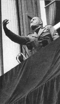 Benito Mussolini speaking at Piazza San Marco, Venice, Italy, 1943