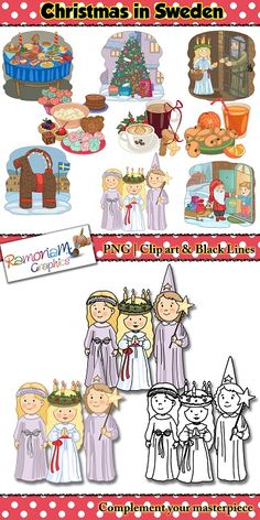 This Christmas set depicts the way the people of Sweden celebrate it!   Perfect for Christmas around the World resources and activities