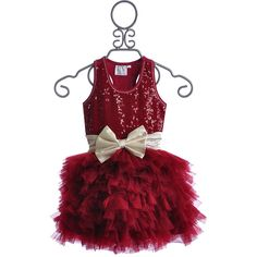 Ooh La La Couture Wow Dream Girls Holiday Dress in Red (465 BRL) ❤ liked on Polyvore featuring baby, girls dresses and life jacket