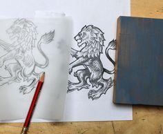 Aston Villa lion sketch