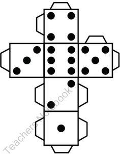 3D cube template dice