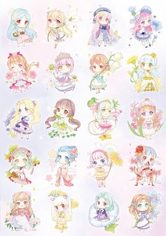 Cute Anime Chibi, Anime Kawaii, Top Anime, Anime Flower, Cute Puns, Book Flowers, Human Drawing, Chibi Girl, Anime Crossover