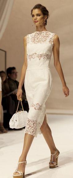 beautiful white lace dress
