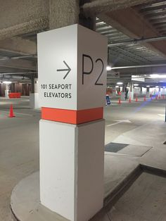 Design by Kling Stubbins. Paint and signage by DCL and Roll Barresi & Associates. Entrance Signage, Park Signage, Directional Signage, Wayfinding Signs, Environmental Graphics, Environmental Design, Parking Signs, Car Parking, Parking Lot Painting