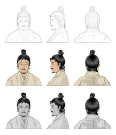 Three Kingdoms of Korea hairstyle Korean Traditional, Traditional Outfits, Korean Art, Drawing Practice, Korean Fashion, Chanel, Hairstyle, Costumes, History