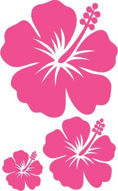 Hawaiian Flowers, Hibiscus Flowers, Lilies Flowers, Cactus Flower, Exotic Flowers, Flowers Garden, Purple Flowers, Stencil Art, Stencil Designs