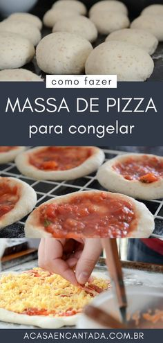 Mini Pizzas, Receita Mini Pizza, Extra Pizza, Easy Cooking, Cooking Recipes, Pizza Cones, Pasta, Calzone, Cooking Classes