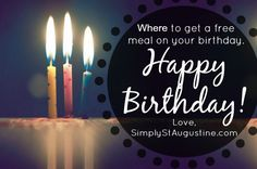 You're celebrating your Birthday in St. Augustine and would love to feel the love?! Check out my list of local spots offering free food, drinks & dessert.