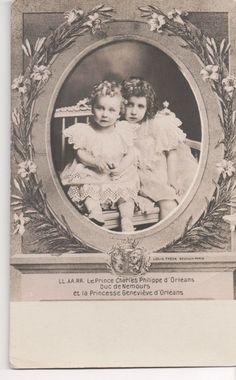 Vintage Postcard Princesses Geneviève and Sophie of Orléans   eBay