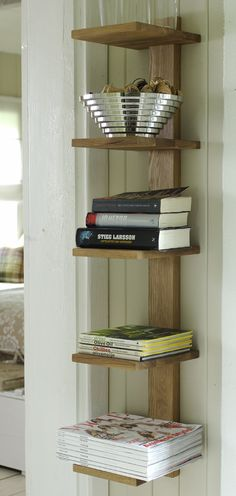 Bokhylle Eik med 5 hyller » Bokklubben Bookshelf Styling, Bookshelves, Bookcase, Diys, Projects To Try, Woodworking, Living Room, Storage Ideas, Stove